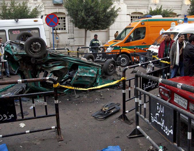 Un atentado terrorista ocurrido el 1 de enero de 2011, dejó cerca de 21 personas muertas en Egipto.  - Elpais.com.co | EFE