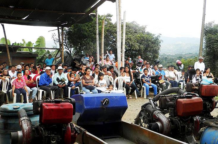 Indígenas desmantelaron mina ilegal de oro en Caldono, Cauca