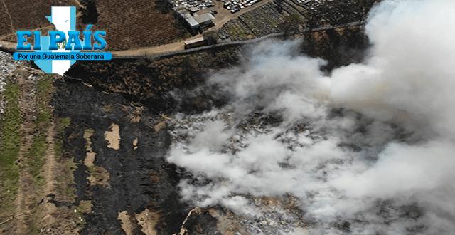Incendio en Villa Nueva, fotografía aérea tomada por un dron