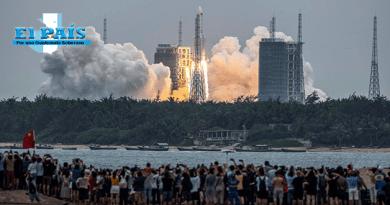 Cohete chino que caerá en la tierra.