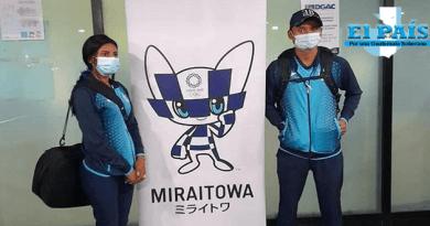 Erick Barrondo y Mirna Ortiz en Tokio