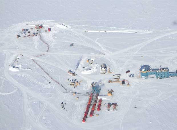 Vista aérea de las instalaciones de IceCube- FOREST BANKS / NSF