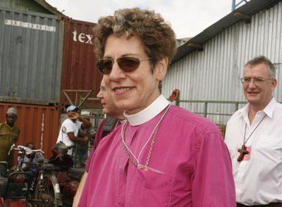 La cabeza de la iglesia episcopaliana, Katharine Jefferts Schori.