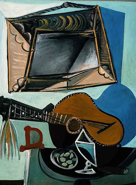 Natura morta amb guitarra, Picasso