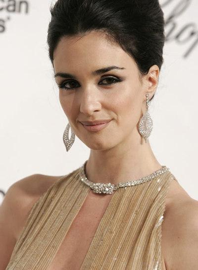 Paz Vega en la fiesta post-Oscars de Elton John.