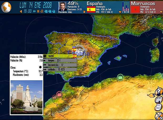 Imagen del videojuego <i>Yo presidente. Objetivo: La Moncloa. </i>
