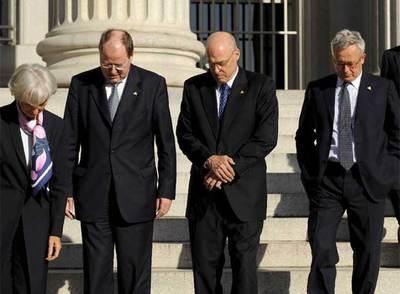 Los ministros de Finanzas de Francia, Alemania, EE UU, Italia y Japón- EFE
