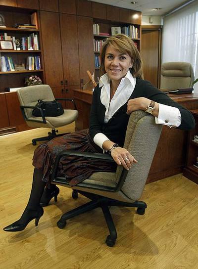 Maria Dolores de Cospedal, en su despacho