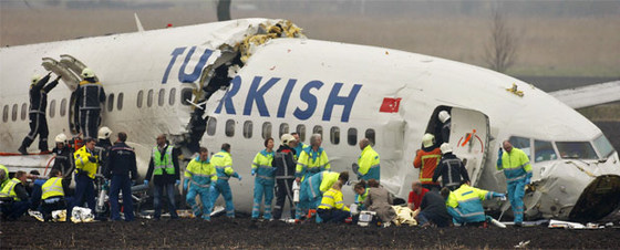 Boeing 738 Accidentado de Turkish en Amsterdam