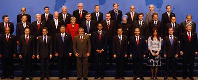 Líderes de los países del G-20 en Pittsburgh