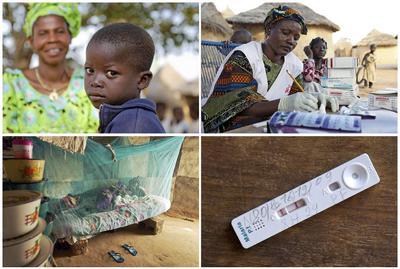 Mosaico fotográfico sobre la malaria
