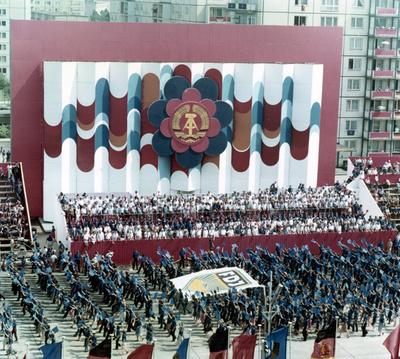 Concentración de la juventud comunista en Berlín