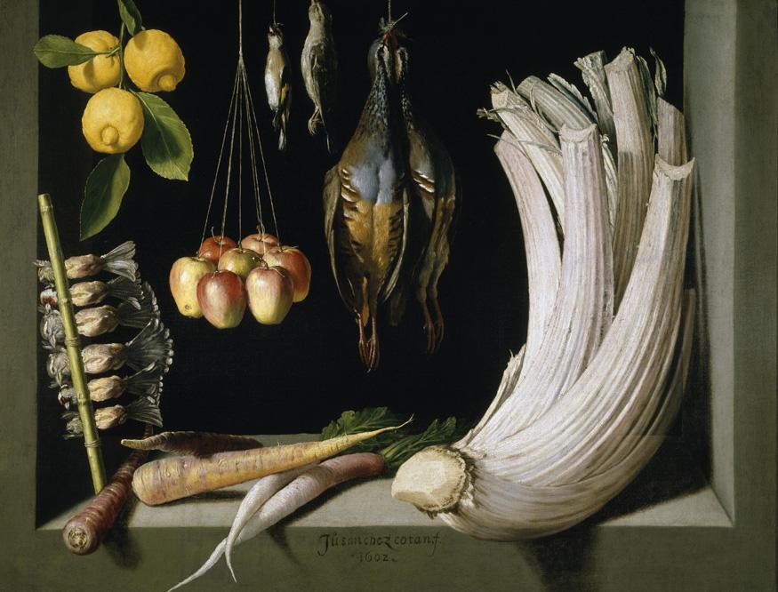 'Bodegón con caza, hortalizas y frutas'