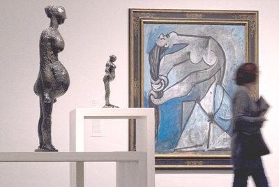 Bailarina de Degas y pintura de Picasso