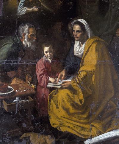 'La educación de la Virgen' de Velázquez