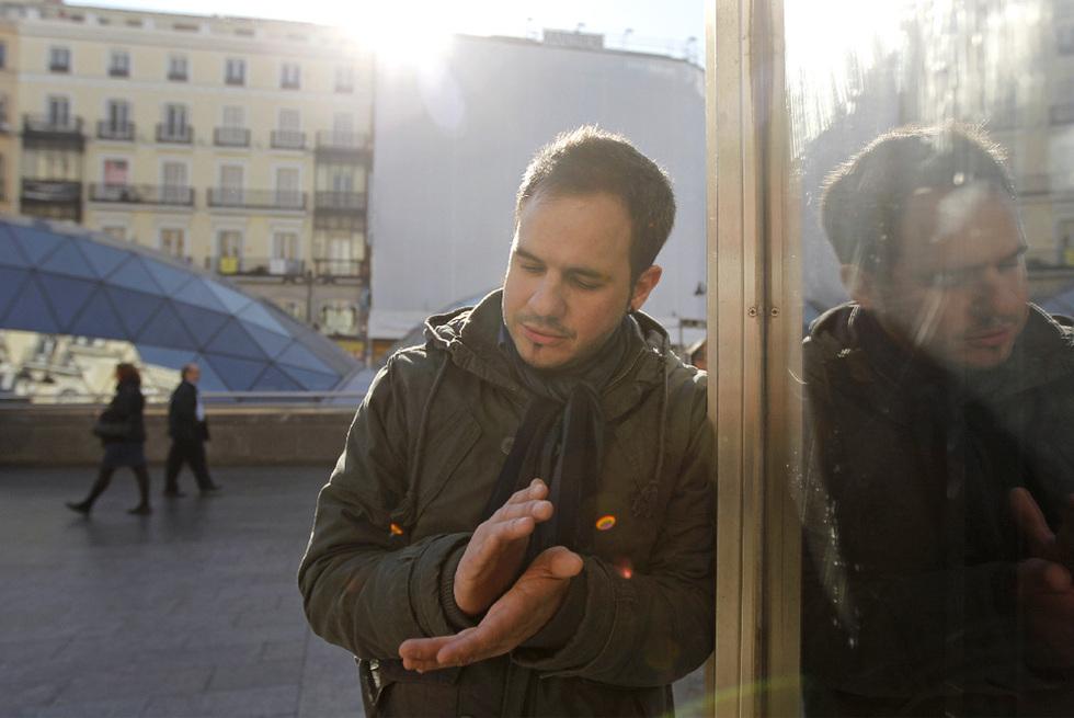 El cantaor Paco del Pozo, en la Puerta del Sol.- SAMUEL SÁNCHEZ