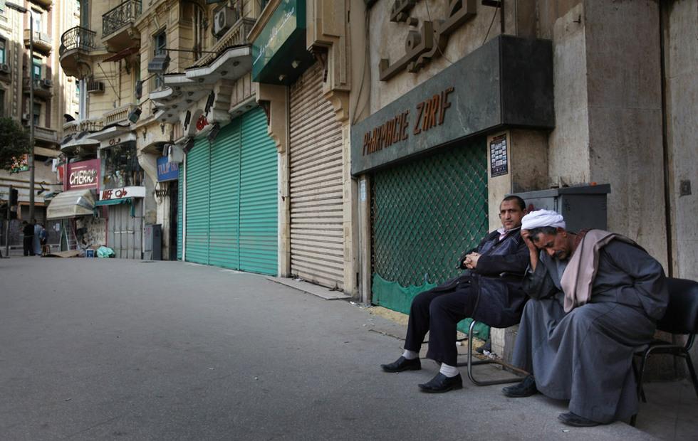 Protestas en Egipto  - Comercios cerrados