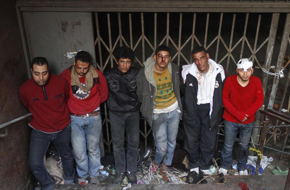 Partidarios de Mubarak, detenidos