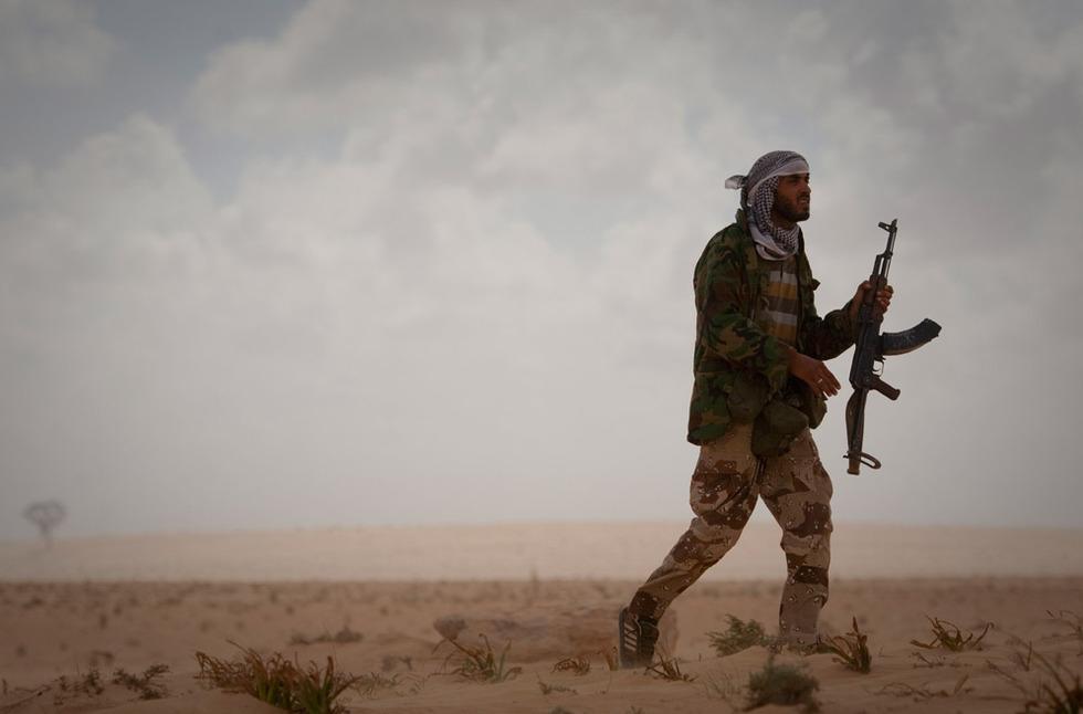 Operación 'El Amanecer de la Odisea' en Libia  - Patrulla en el desierto