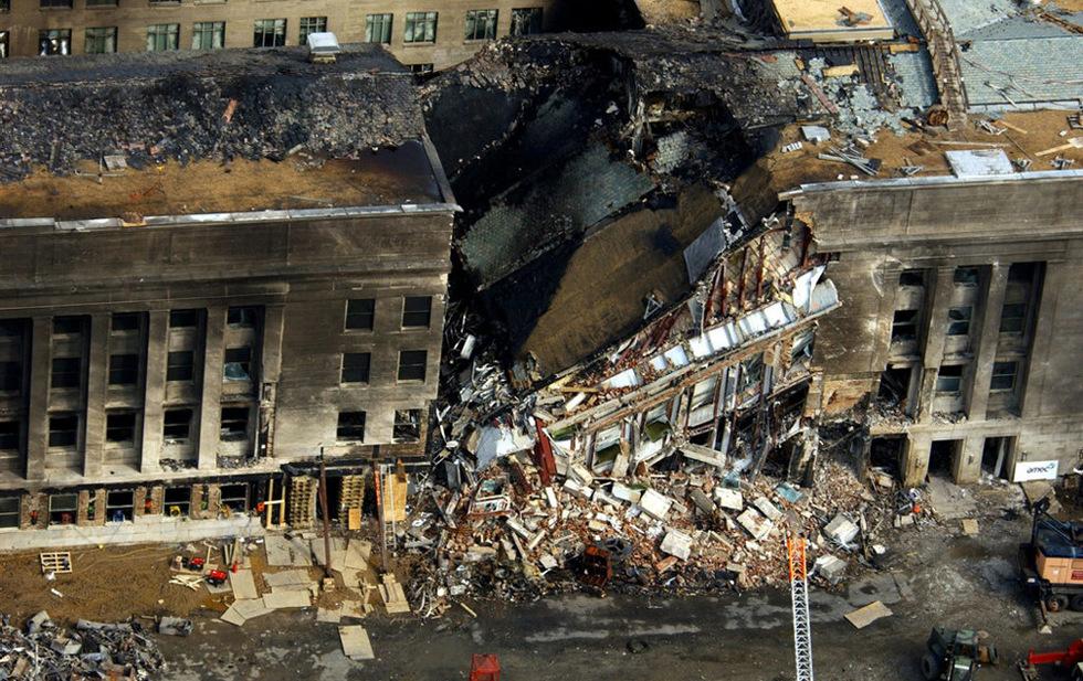 Los atentados del 11-S  - Daños en el Pentágono