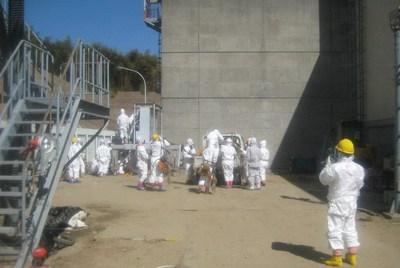 Los operarios de Tepco entran en un reactor de Fukushima