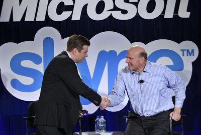 Los directores de Skypey Microsoft