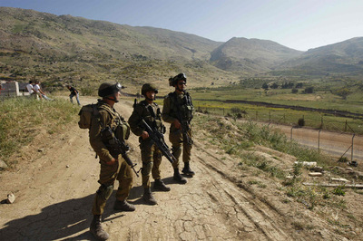 Patrullando ante los Altos del Golán