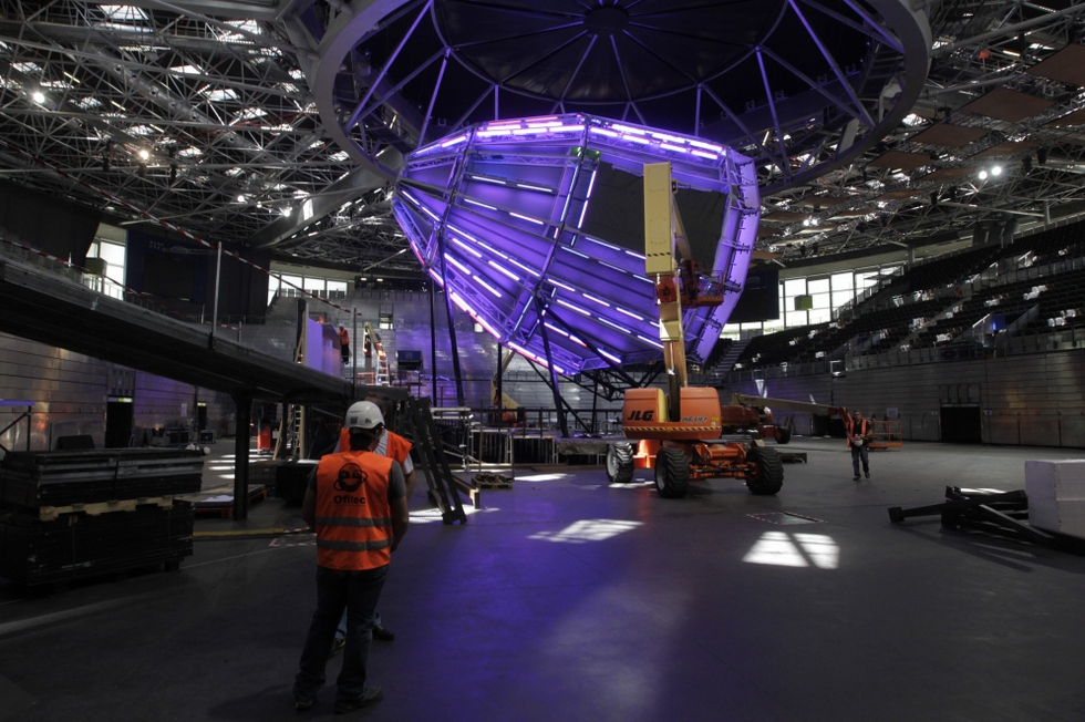 Madrid Arena St. Francis Purple Cupula Installation