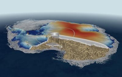 Mapa detallado del grosor de los hielos en en Ártico realizado con los datos del satélite CryoSat.- CPOM/UCL/ESA