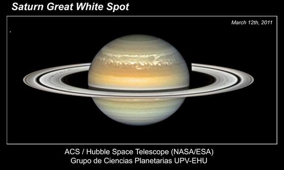 Gran mancha blanca de Saturno