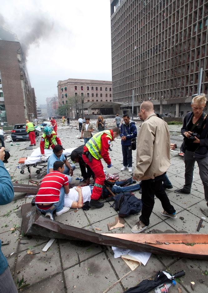 Explosión en el centro de Oslo