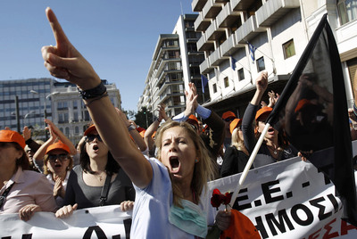 Protestas en Atenas contra los planes de austeridad