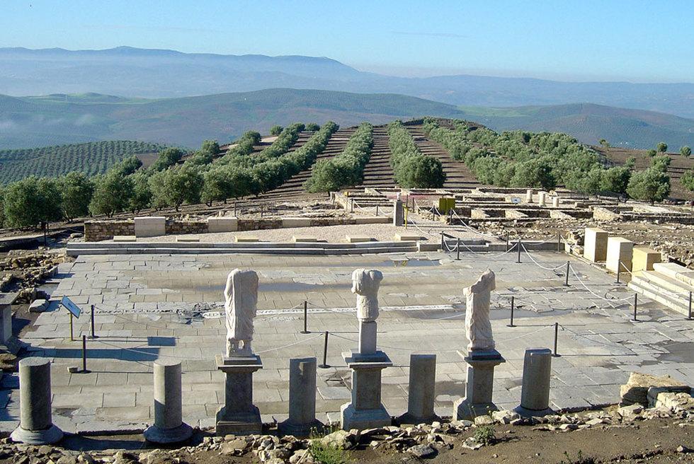 Foro del yacimiento arqueológico de Torreparedones