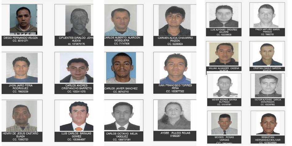 ¿Los reconoce? Estos son los 20 ladrones reincidentes más buscados en Bogotá