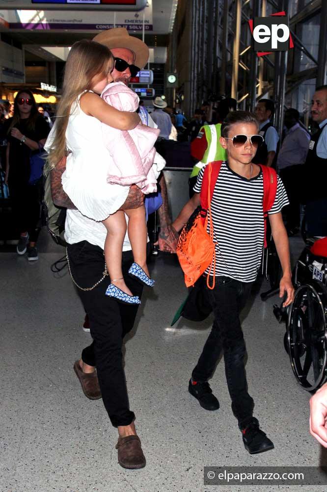 David Beckham e hijos.