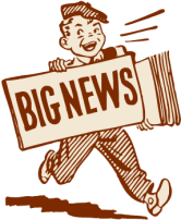 blog picture of cartoon paperboy big news