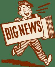 കാർട്ടൂൺ പേപ്പർ ബ്യൂറോ വലിയ വാർത്തയുടെ ബ്ലോഗ് ചിത്രം