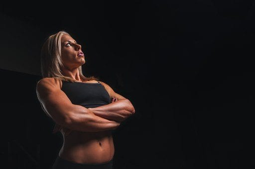 fit woman arms crossed