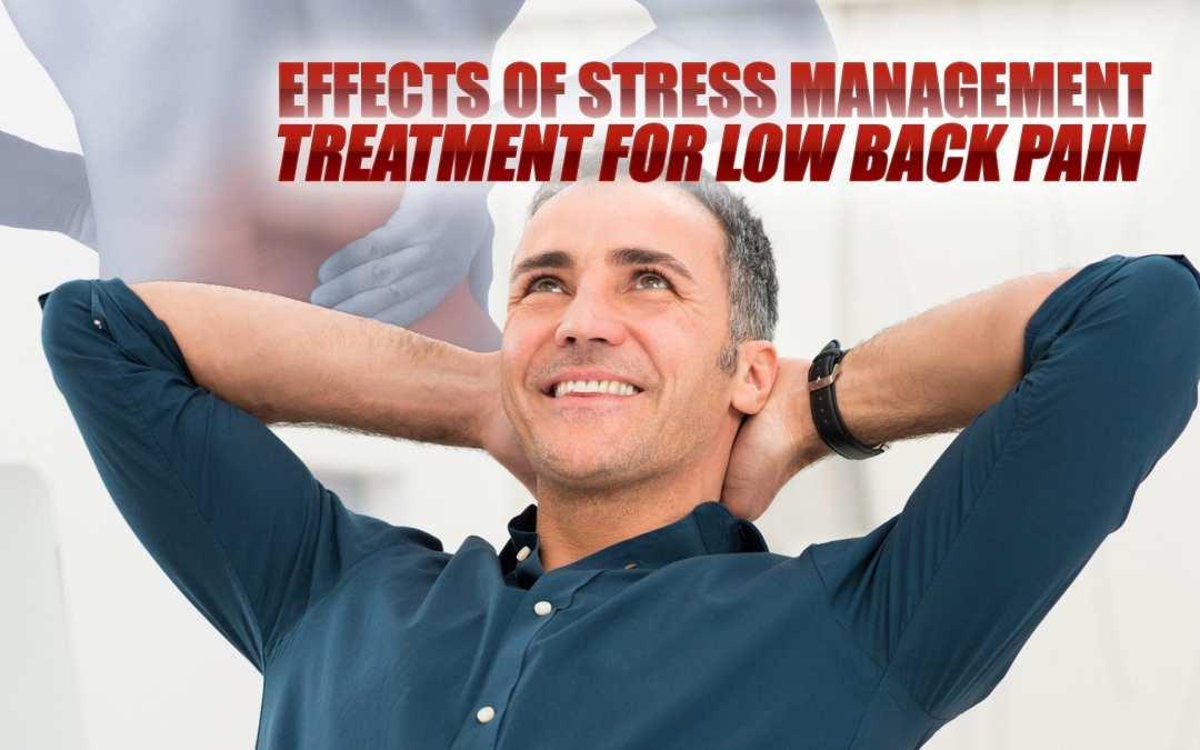 Effetti del trattamento di gestione dello stress per la lombalgia in El Paso, TX