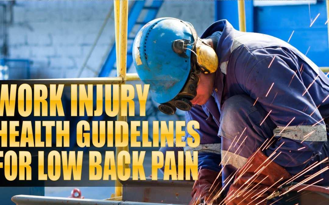 Linee guida sulla salute delle ferite da lavoro per la lombalgia in El Paso, TX