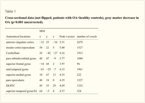 Table 1 Cross-Sectional Data