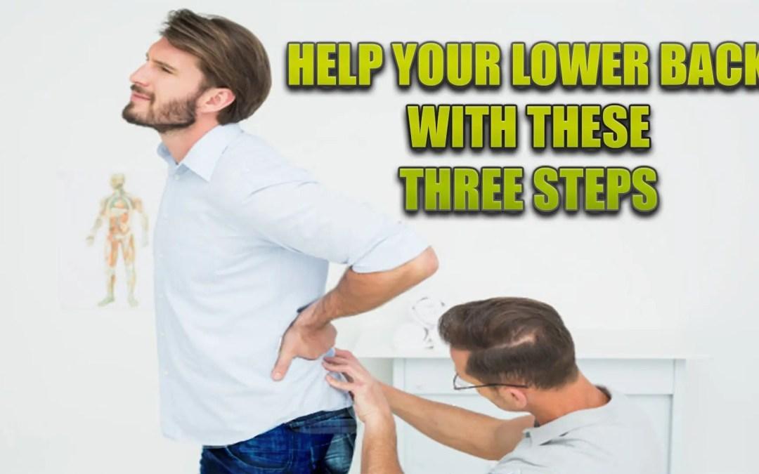 Tres pasos para ayudar a su espalda