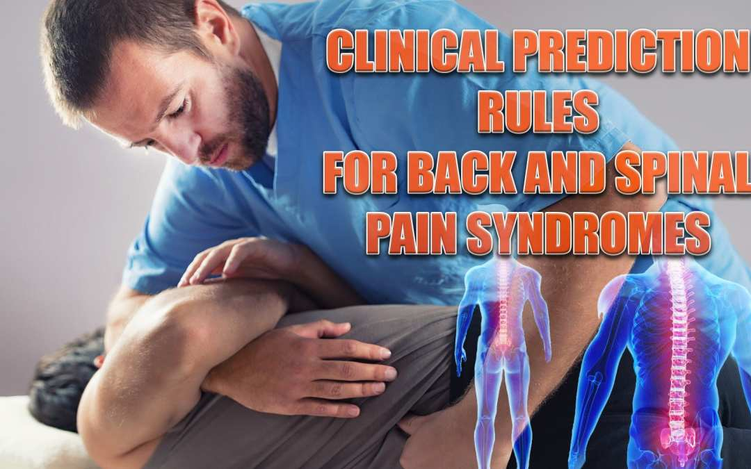 Clinical Prediction Rules For Back And Spinal Pain Syndromes