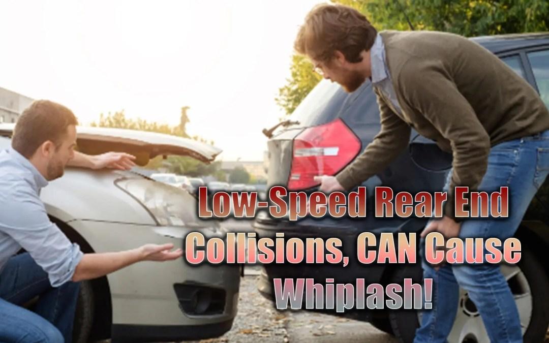 I tamponamenti a bassa velocità possono causare il colpo di frusta