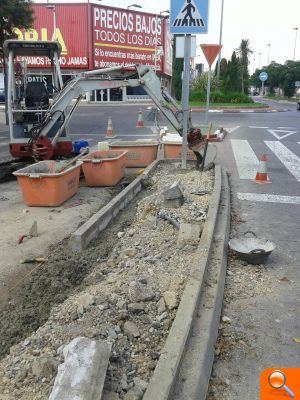 L'Ajuntament d'Alfafar realiza tareas de mejora en la Av. Albufera'