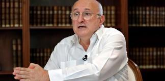 El embajador de España en Cuba, Juan Fernández Trigo, fue registrado, durante una entrevista con Efe, en La Habana (Cuba). EFE/Ernesto Mastrascusa