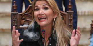 La presidenta interina de Bolivia, Jeanine Áñez. EFE/Martin Alipaz/Archivo