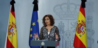 La ministra de Hacienda y portavoz del Gobierno, María Jesús Montero, en la rueda de prensa posterior al Consejo de Ministros celebrado el pasado viernes. EFE/Emilio Naranjo