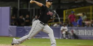 El lanzador de los Indios Carlos Carrasco. EFE/Thais Llorca/Archivo