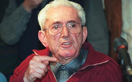 Marcelino Camacho, en una reunión de CCOO en 1996.